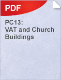 PC13 VAT and Church Buildings